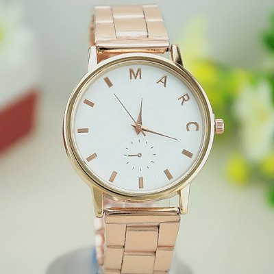 Marc Decorative Sub - dials Quartz Watch Alloy Strap for Women or Men