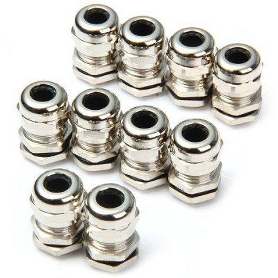 DIY M12 Metal Water Resistant 3-7mm Cable Glands - 10PCS