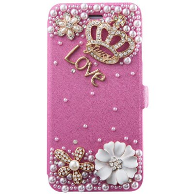 Гаджет   Fabitoo Diamante Crown Pattern PU and PC Support Cover Case for iPhone 6  -  4.7 inches iPhone Cases/Covers