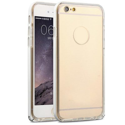 ФОТО Fabitoo Frame Style Aluminium Alloy Bumper with TPU Back Case for iPhone 6  -  4.7 inches