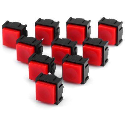 10Pcs DC 12V 50mA Practical Square Shape 2Pin Push Button Switch Switches for Electronic DIY