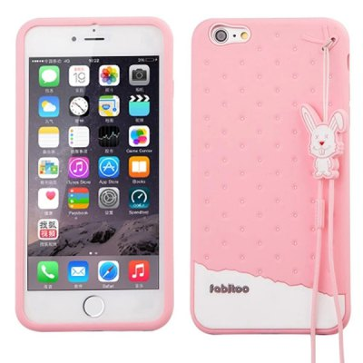 Гаджет   Fabitoo Lanyard Design Silicone Back Cover Case for iPhone 6 Plus  -  5.5 inches iPhone Cases/Covers