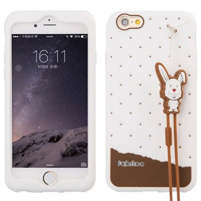 Гаджет   Fabitoo Lanyard Design Silicone Back Cover Case for iPhone 6  -  4.7 inches iPhone Cases/Covers