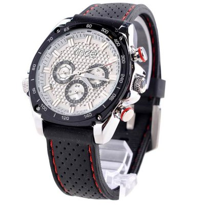ФОТО Mce Mechanical Watch Male Multifunctional Wristwatch Rubber Band Round Dial