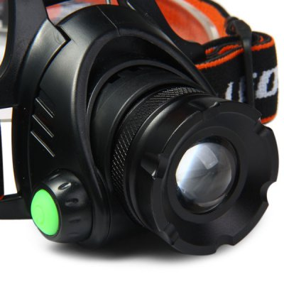 K815 600 Lumens Cree XML T6 3 Modes Water - resistant Cycling LED Headlight  -  2 x 18650 Battery