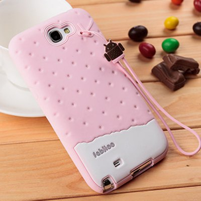 Fabitoo Novel Silicone Phone Cover Case with Lanyard for Samsung N7100 Note 2 etc.
