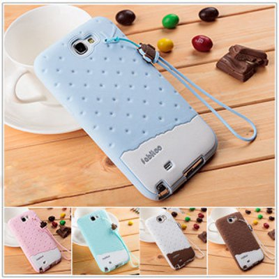 ФОТО Fabitoo Novel Silicone Phone Cover Case with Lanyard for Samsung N7100 Note 2 etc.