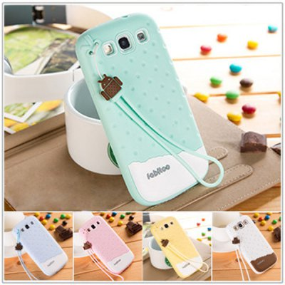ФОТО Fabitoo Novel Silicone Phone Cover Case with Lanyard for Samsung Galaxy S3 i9300