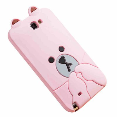 Гаджет   Fabitoo Novel Silicone Phone Cover Cartoon Bear Rabbit Case for Samsung Note 2 N7100 Samsung Cases/Covers