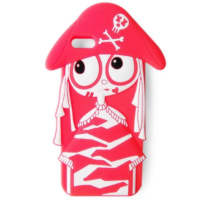 Classic 4 inch Silicone Phone Cover Protector MJ Pirate Style Case Skin for iPhone 5 / 5S