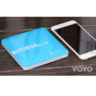 VOYO Smart Mini PC Intel Baytrail T Z3735 Windows 8.1 Android 4.4 4K Quad Core 2GB RAM 64GB ROM for WiFi Bluetooth ( AC 100  -  240V , US Plug ) - VOYOTV Box &amp; Mini PC<br>VOYO Smart Mini PC Intel Baytrail T Z3735 Windows 8.1 Android 4.4 4K Quad Core 2GB RAM 64GB ROM for WiFi Bluetooth ( AC 100  -  240V , US Plug )<br><br>Brand: VOYO<br>Model: VOYO<br>Color: White, Blue<br>System: Android 4.4, Windows<br>CPU: Intel Baytrail T Z3735<br>Core: Quad Core<br>RAM: 2G<br>ROM: 64G<br>Max. Extended Capacity: 128G<br>Video Format: MP4, 1080P, 4K, AVI<br>Audio Format: OGG, FLAC, APE, M4A, MP3, AAC<br>Photo Format: PNG, JPG, BMP<br>Support XBMC: Yes<br>WiFi: IEEE 802.11 b/g/n<br>Bluetooth: Support<br>Power Supply: Charge Adapter<br>Interface: USB2.0, HDMI, 3.5MM Audio, Micro USB<br>Other Features: Support 4K output<br>Product Weight: 0.200 kg<br>Package Weight: 0.45 kg<br>Product Size (L x W x H): 12.6 x 12.6 x 1.2 cm / 4.95 x 4.95 x 0.47 inches<br>Package Size (L x W x H): 15.5 x 15.5 x 3.5 cm / 6.09 x 6.09 x 1.38 inches<br>Package Contents: 1 x Mini PC, 1 x US Plug Power Adapter, 1 x Chinese User Manual