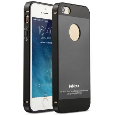 ФОТО Fabitoo Frame Style Aluminium Alloy Bumper with PC Back Case for iPhone 5 5S
