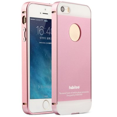 Fabitoo Aluminium Alloy Bumper Frame with PC Back Case for iPhone 5 5S