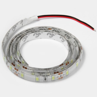 18W 100CM 60 x SMD 5730 12V Water - resistant Pure White Flexible LED Strip Tape LightLED Strips<br>18W 100CM 60 x SMD 5730 12V Water - resistant Pure White Flexible LED Strip Tape Light<br><br>Light Color: Cold White<br>CCT/Wavelength: 6000-6500K<br>Voltage (V): DC12<br>Output Power(W): 18W<br>Features: IP-65<br>Length (m): 1 m<br>Number of LEDs: 60 SMD-5730 LEDs<br>Product weight: 0.026 kg<br>Package weight: 0.04 kg<br>Product size (L x W x H): 6.7 x 6.7 x 1 cm / 2.63 x 2.63 x 0.39 inches<br>Package size (L x W x H): 7 x 7 x 2 cm / 2.75 x 2.75 x 0.79 inches<br>Package Contents: 1 x 1M 18W 60 SMD 5730 Decorating LEDs Strip Light for Home / Outdoor