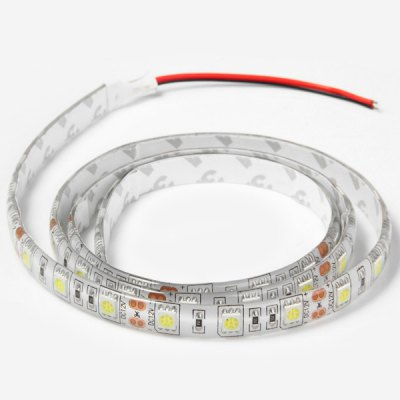 35.43 inches 16W 54 SMD 5050 LEDs Flexible Strip Light Water - resistant Tape Light ( 6000  -  6500K )LED Strips<br>35.43 inches 16W 54 SMD 5050 LEDs Flexible Strip Light Water - resistant Tape Light ( 6000  -  6500K )<br><br>Light Color: Cold White<br>CCT/Wavelength: 6000-6500K<br>Voltage (V): DC12<br>Output Power(W): 16W<br>Features: IP-65<br>Length (m): 90 cm<br>Number of LEDs: 54 SMD-5050 LEDs<br>Product weight: 0.035 kg<br>Package weight: 0.05 kg<br>Product size (L x W x H): 8 x 8 x 1 cm / 3.14 x 3.14 x 0.39 inches<br>Package size (L x W x H): 9 x 9 x 2 cm / 3.54 x 3.54 x 0.79 inches<br>Package Contents: 1 x 0.9M 16W 54 SMD 5050 Decorating LEDs Ribbon Strip Light for Home / Outdoor