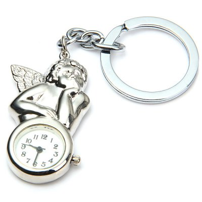 Novel Cupid Design Quartz Pocket Watch with Key Chain Round Dial Collection GiftPocket Watches<br>Novel Cupid Design Quartz Pocket Watch with Key Chain Round Dial Collection Gift<br><br>Watches categories: Pocket watch<br>Watch style: Lovely<br>Available Color: Silver<br>Movement type: Quartz watch<br>Display type: Analog<br>Case material: Alloys<br>Band material: Alloys<br>The dial thickness: 0.7 cm / 0.3 inches<br>The dial diameter: 2.2 cm / 0.9 inches<br>Product weight: 34 g<br>Package weight: 0.085 kg<br>Product size (L x W x H) : 11 x 3.3 x 0.7 cm / 4.32 x 1.30 x 0.28 inches<br>Package size (L x W x H): 15 x 6 x 2 cm / 5.90 x 2.36 x 0.79 inches<br>Package contents: 1 x Pocket Watch