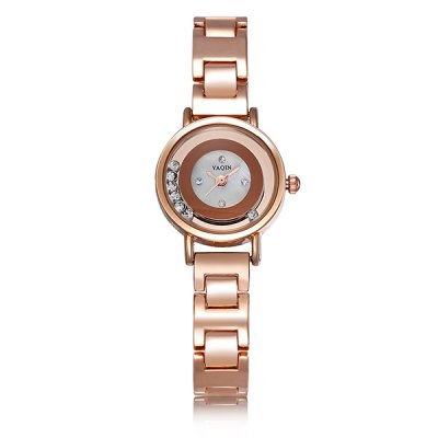 YaQin Elegant Rolling Diamond Alloy Body Female Japan Quartz Watch BraceletWomens Watches<br>YaQin Elegant Rolling Diamond Alloy Body Female Japan Quartz Watch Bracelet<br><br>Watches categories: Female table<br>Available color: Silver, Rose Gold<br>Style : Fashion&amp;Casual<br>Movement type: Quartz watch<br>Shape of the dial: Round<br>Display type: Analog<br>Case material: Alloy<br>Band material: Alloys<br>Clasp type: Folding clasp with safety<br>The dial thickness: 0.9 cm / 0.35 inches<br>The dial diameter: 2.3 cm / 0.90 inches<br>The band width: 1.0 cm / 0.39 inches<br>Product weight: 0.046 kg<br>Package weight: 0.096 kg<br>Product size (L x W x H) : 18 x 2.3 x 0.9 cm / 7.07 x 0.90 x 0.35 inches<br>Package size (L x W x H): 19 x 3.3 x 1.9 cm / 7.47 x 1.30 x 0.75 inches<br>Package contents: 1 x YaQin Watch
