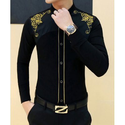 Stylish Shirt Collar Slimming Placket Design Embroidered Long Sleeve Cotton Blend Shirt For MenMens Shirts<br>Stylish Shirt Collar Slimming Placket Design Embroidered Long Sleeve Cotton Blend Shirt For Men<br><br>Shirts Type: Casual Shirts<br>Material: Cotton, Polyester<br>Sleeve Length: Full<br>Collar: Turn-down Collar<br>Weight: 0.290KG<br>Package Contents: 1 x Shirt
