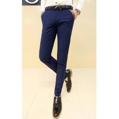 Гаджет   Slimming Stylish Pocket Design Fabric Splicing Straight Leg Cotton Blend Pants For Men