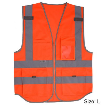 SFvest Traffic Guidance Reflective Vest Waistcoat
