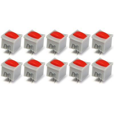 High Performance Self  -  Locked Push Button Switches with Indicator Light for DIY Project  -  ( DC 30V 0.1A / 10PCS )