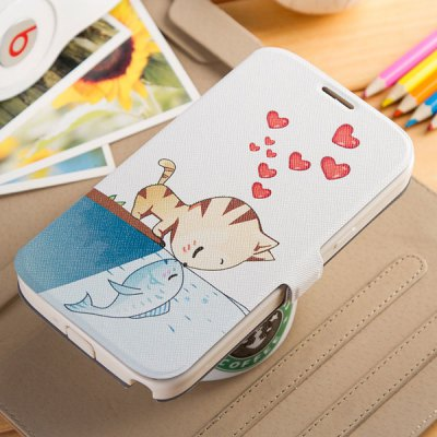 Fabitoo Phone Cover PU Case with Stand Function for Samsung Note 2 N7100