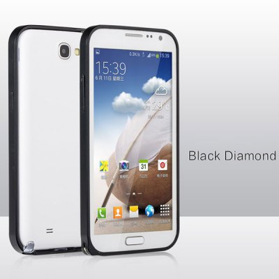 Fabitoo Metal Bumper Frame Protective Case for Samsung Note 2 N7100