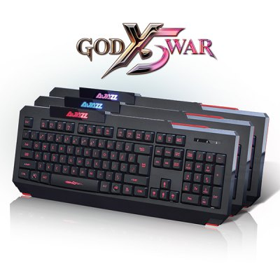 Гаджет   A - jazz X5 USB Tri - color LED Backlit Gaming Keyboard Machanical Hand Feel for E - sports