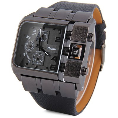 Oulm 3364 Male Quartz Watch with Square Dial