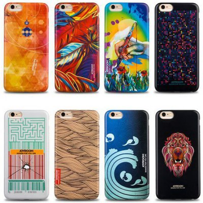 Фотография Joyroom Feather Pattern TPU Material Back Case for iPhone 6  -  4.7 inches