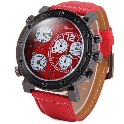 Oulm 3421 Male 3 - movt Quartz Watch with Round Dial