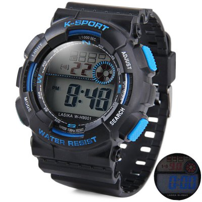 LASIKA 9001 Outdoor Sports LED Watch Military Army Wristwatch