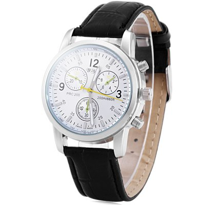 Wyz 89007 Men Quartz Watch Decorative Sub - dials Leather Strap Round DialMens Watches<br>Wyz 89007 Men Quartz Watch Decorative Sub - dials Leather Strap Round Dial<br><br>Watches categories: Male table<br>Watch style: Business<br>Available color: Black, White, Blue, Brown<br>Movement type: Quartz watch<br>Shape of the dial: Round<br>Display type: Analog<br>Case material: Stainless steel<br>Band material: Leather<br>Clasp type: Pin buckle<br>Special features: Decorating small sub-dials<br>The dial thickness: 1.0 cm / 0.39 inches<br>The dial diameter: 4.0 cm / 1.57 inches<br>The band width: 1.8 cm / 0.71 inches<br>Product weight: 0.043 kg<br>Package weight: 0.093 kg<br>Product size (L x W x H): 25.5 x 4 x 1 cm / 10.02 x 1.57 x 0.39 inches<br>Package size (L x W x H): 26.5 x 5 x 2 cm / 10.41 x 1.97 x 0.79 inches<br>Package Contents: 1 x Wyz 89007 Watch