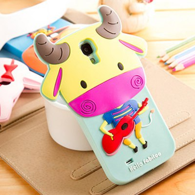 ФОТО Fabitoo 3D Cartoon Cow Phone Case Silicone Cover for Samsung S4 i9500