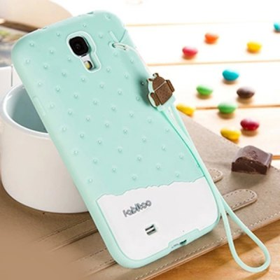 ФОТО Fabitoo Novel Silicone Phone Cover Case with Lanyard for Samsung Galaxy S4 i9500