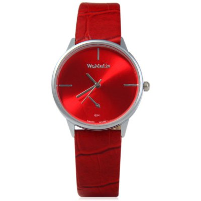 WoMaGe 654 Women Quartz Watch Analog Round Dial Leather Strap with Decorative Sub - dials Water Resistant FunctionWomens Watches<br>WoMaGe 654 Women Quartz Watch Analog Round Dial Leather Strap with Decorative Sub - dials Water Resistant Function<br><br>Watches categories: Female table<br>Available Color: Black,White,Red,Coffee<br>Style: Fashion&amp;Casual<br>Movement type: Quartz watch<br>Shape of the dial: Round<br>Display type: Analog<br>Case material: Stainless Steel<br>Case color: Silver<br>Band material: Leather<br>Clasp type: Pin buckle<br>Water resistance : Life water resistant<br>Special features: Decorating small sub-dials<br>The dial thickness: 0.8 cm / 0.3 inches<br>The dial diameter: 3.2 cm / 1.3 inches<br>The band width: 1.5 cm / 0.6 inches<br>Product weight: 0.024 kg<br>Package weight: 0.074 kg<br>Product size (L x W x H): 23 x 3.4 x 0.8 cm / 9.04 x 1.34 x 0.31 inches<br>Package size (L x W x H): 24 x 5 x 2 cm / 9.43 x 1.97 x 0.79 inches<br>Package Contents: 1 x Watch