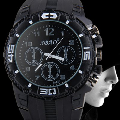 Гаджет   S - 425 Bright Color Large Dial Sports Watch with Decorative Small Sub - dial Rubber Band Men