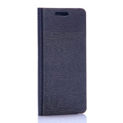 Фотография Wood Grain Pattern Phone Cover PU Case Skin with Stand Function for Amazon Fire Phone