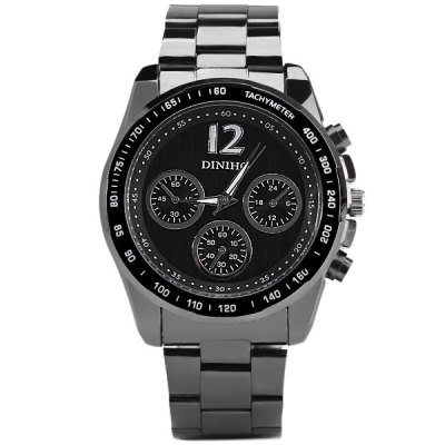 Diniho 8014G Men Quartz Watch Wristwatch Decorative Sub - dials Round Dial Steel StrapMens Watches<br>Diniho 8014G Men Quartz Watch Wristwatch Decorative Sub - dials Round Dial Steel Strap<br><br>Watches categories: Male table<br>Watch style: Business<br>Available color: Black, White, Silver, Multi-color<br>Movement type: Quartz watch<br>Shape of the dial: Round<br>Display type: Analog<br>Case material: Stainless steel<br>Band material: Steel<br>Clasp type: Folding clasp with safety<br>The dial thickness: 1.3 cm / 0.51 inches<br>The dial diameter: 4.4 cm / 1.73 inches<br>The band width: 2.0 cm / 0.79 inches<br>Product weight: 0.1 kg<br>Package weight: 0.15 kg<br>Product size (L x W x H): 14 x 4.4 x 1.3 cm / 5.50 x 1.73 x 0.51 inches<br>Package size (L x W x H): 15 x 5.4 x 2.3 cm / 5.90 x 2.12 x 0.90 inches<br>Package Contents: 1 x Diniho 8014G Watch