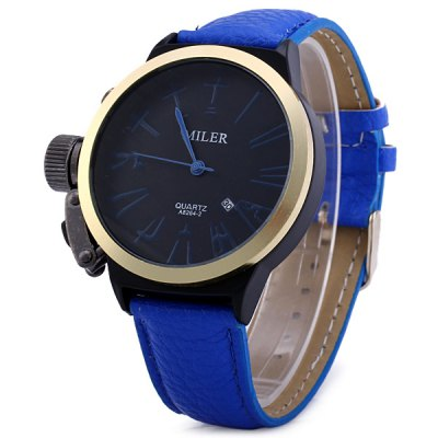 Гаджет   Miler A8264 Male Quartz Watch with Chinese Number Scale Date Display Men