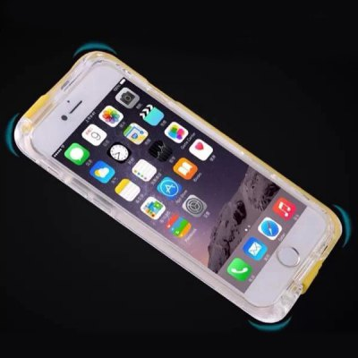 Built - in 8 Pin Cable and USB 2.0 Connector Transparent PC and TPU Back Case for iPhone 6  -  4.7 inches