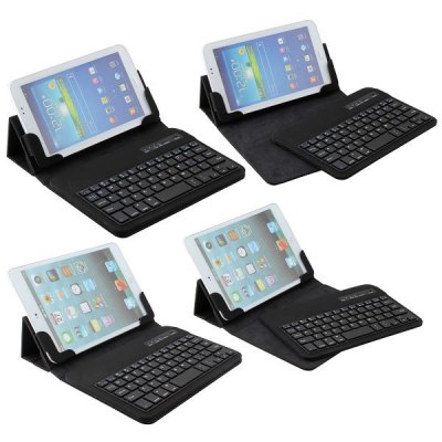 ФОТО Leather 7 inch Bluetooth 3.0 Keyboard Full Body Case with Stand Function for Samsung Galaxy Tab 3 P3200 / P3210 etc.