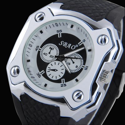 Гаджет   S - 348 Bright Color Large Dial Sports Watch with Decorative Small Sub - dial Rubber Band Men