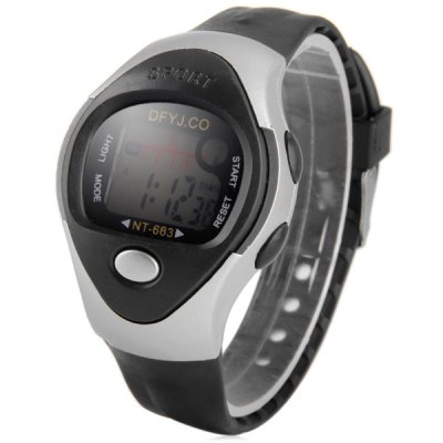 Гаджет   Children Multifunction LED Watch Day Date Alarm Round Dial Rubber Band Sports Watches