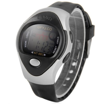 Children Multifunction LED Watch Day Date Alarm Round Dial Rubber Band
