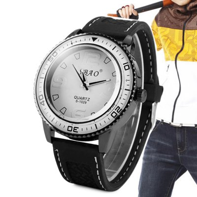 S - 1029 Large Dial Sports Watch with Rubber BandMens Watches<br>S - 1029 Large Dial Sports Watch with Rubber Band<br><br>Watches categories: Male table<br>Watch style: Fashion<br>Available color: Black, White, Red, Green, Orange<br>Movement type: Quartz watch<br>Shape of the dial: Round<br>Display type: Analog<br>Case material: Alloy<br>Band material: Rubber<br>The dial thickness: 1.1 cm / 0.43 inches<br>The dial diameter: 5.0 cm / 1.97 inches<br>Product weight: 0.070 kg<br>Package weight: 0.120 kg<br>Package size (L x W x H): 28 x 7 x 3 cm / 11.00 x 2.75 x 1.18 inches<br>Package Contents: 1 x Watch