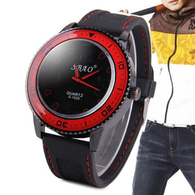 Фотография S - 1029 Large Dial Sports Watch with Rubber Band