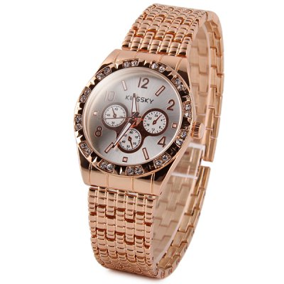 Kingsky Women Diamond Quartz Watch