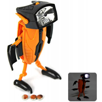 Foldable Shape Robot Flashlight Toy with Three Transformable Models for Creative Gift