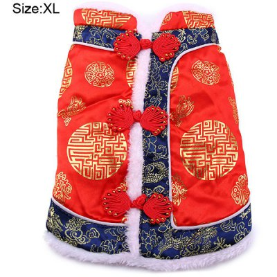 Chinese New Year Tang Suit Style Dog Apparel